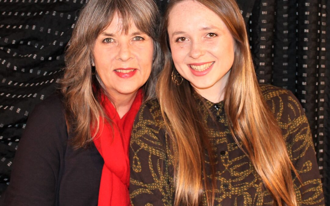 Elizabeth Braggins, supported by daughter Olivia Wilson