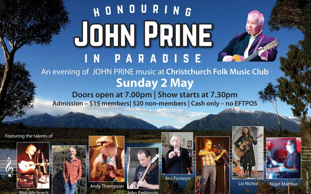 Honouring John Prine in Paradise an evening of John Prine music